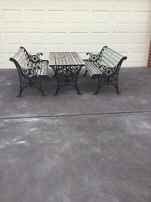 Cast Iron Outdoor Setting
