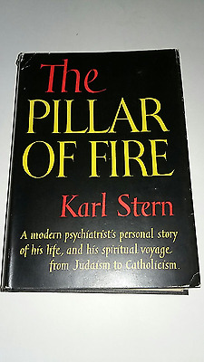 The Pillar of Fire by Karl Stern 1ST EDITION 1951 HARD COVER with DUST JACKET G+