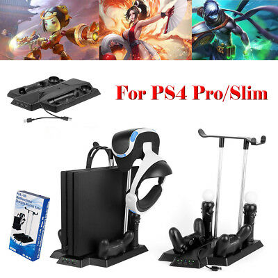 Charging Station Charger Stand Dock for PlayStation PS4 Pro Slim VR Controller