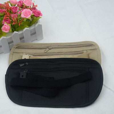 Travel Sports Passport Money Card Waist Pouch Bag Wallet Belt Secure Durable