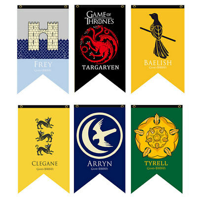 Game Of Thrones2 House Welcome Garden Decor Flag Poster Banner Fabric Toy