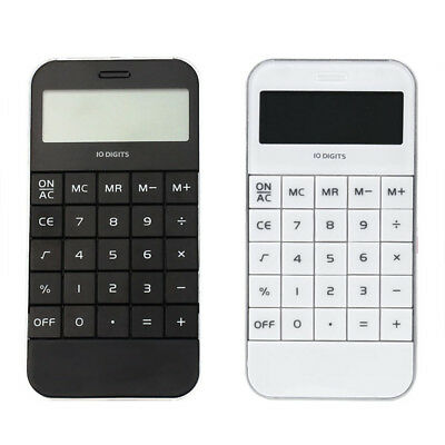 Office Promotional Universal Pocket Electronic Digit Calculator Black White