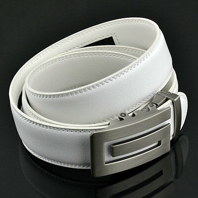 New 2017 FUNKTION Golf Mens White Leather Belt  Automatic  G Buckle  30 -38