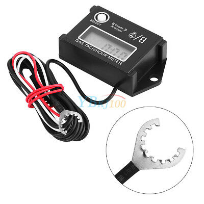 Tach/Hour Meter Digital Tachometer RPM LCD Display For 2/4 Stroke Engines New DY