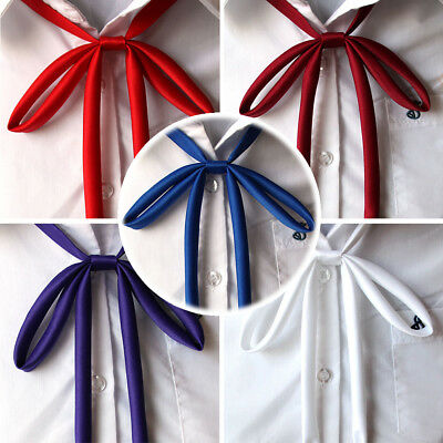 Women Summer Colorful Solid Bowties Bowknot Students School Bow Ties Uniform