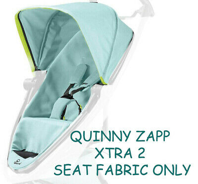 New Quinny zapp Xtra 2.0 complete seat unit Black Frame Blue Pastel NEW