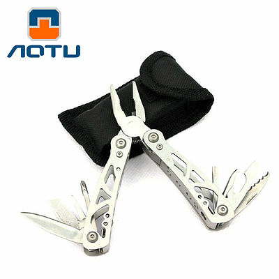9 In1 Auto Mini Multi-function Folding Tool Pliers Survival Travel Camping Knife