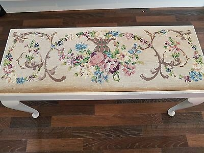 Vintage Long Stool, bench, seat with 19th Century Tapestry Seat