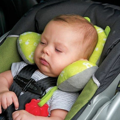 Baby Child Head Neck Support Headrest Travel Car Seat Pillow Cushion Buckle HE