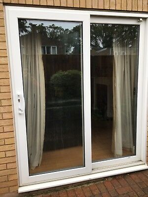 Leaded patio doors picclick uk for White sliding patio doors