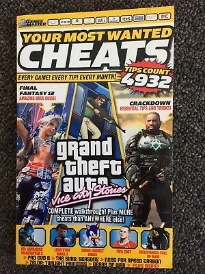 Your Most Wanted Cheats Grand Theft Auto Vice City Stories Pc Collectible Book