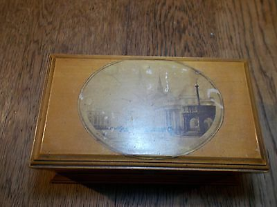 Antique Mauchline Sewing Box Aberdeen Holyrood Manchester