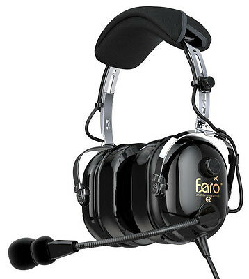 BRAND NEW FARO G2 PASSIVE NOISE REDUCTION (PNR) AVIATION HEADSET w/ MP3 Input