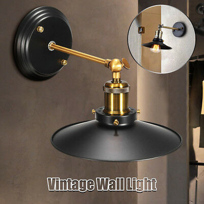 Industrial Vintage Adjustable Swing Arm Light Sconce Wall Lamp Fixture Loft Home
