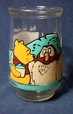 WELCH'S Jelly Jar Glass #1 Winnie the Pooh Grand Adventure with Owl