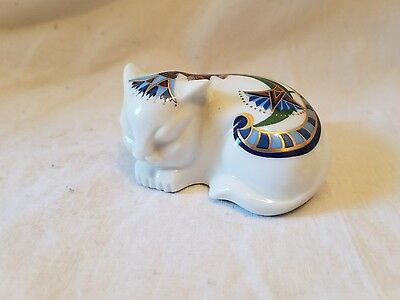 Elizabeth Arden Egyptian Cat Treasures of the Pharaohs Pomander Porcelain