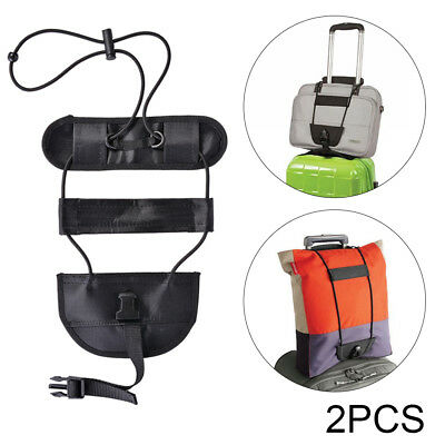 2x Add A Bag Purse Strap Luggage Suitcase Belt Carry On Bungee Travel HS987