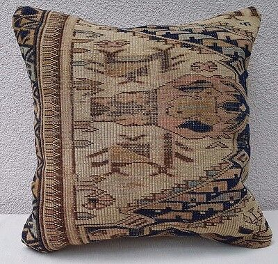 19 th Century One of a Kind Handmade Antique Caucasian Shirvan Pillow 18''X18''