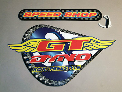 """Vintage, GT Dyno BMX Bikes, In-Store Advertising Bicycle Dealer Sign 16"""" x 10"""""""