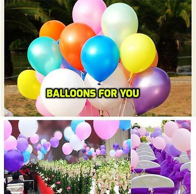 100 Large Plain Balons Ballons Helium Balloons Quality Birthday Party Balloon Lo