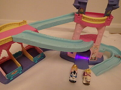 Little People 3 Storey Castle Lights Music Sounds - Spinning  Stage + 2 Figures