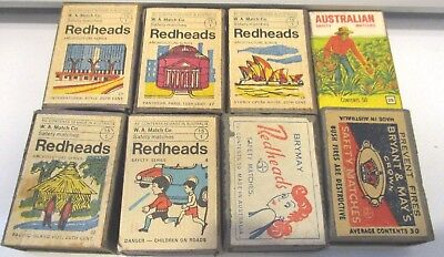 Vintage Redhead Match Boxes x 4  Architectural Series, 2 Safety Series, 2 Brymay