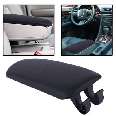 Black Console Center Armrest Arm Rest Cover Lid FOR AUDI A4 B7 2002-2007 A4L -UK