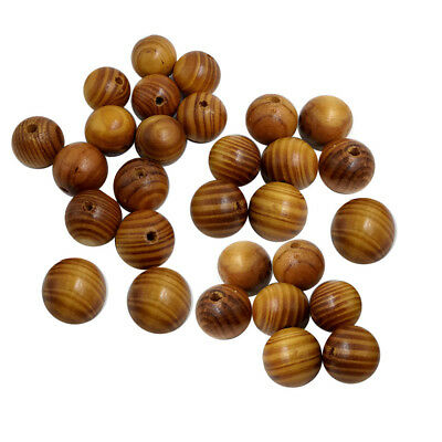 50pcs Wooden Round Loose Wood Beads for Fashion Jewelry Making DIY 20mm