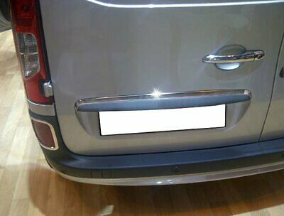 Mercedes Citan 2013up Chrome Rear Trunk Lid Cover Stainless Steel