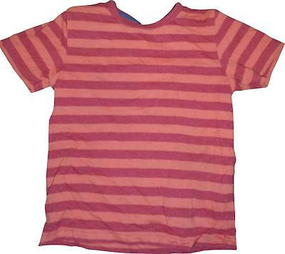 PRE-OWNED Baby Boys M&S Orange&Red Striped Short Sleeve Top Size 18-24 Months