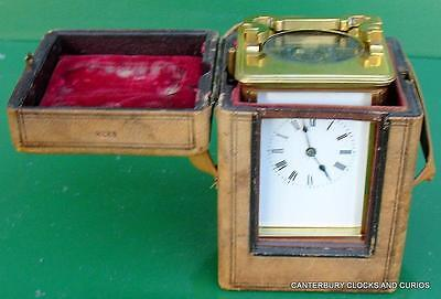 Large Antique French Grande Corniche Striking 8 Day Two Train Carriage Clock