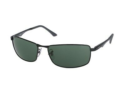 Ray-Ban RB3498 002/71 Active Black Frame Green Classic 64mm Lens Sunglasses
