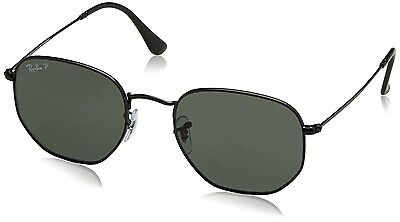 Ray-Ban Unisex RB3548N 002/58 Polarized Green Classic 51 mm Black Sunglasses