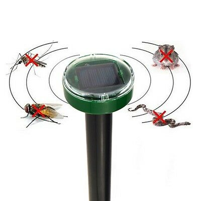 Solar Power Eco-Friendly Ultrasonic Gopher Mole Snake Mouse Pest Reject Repelle