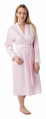 Ladies Waffle Wrap Over Dressing Gown/Robe. Pink or Blue. Sizes 8/10-16/18.
