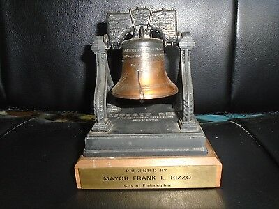 Liberty Bell Philadelphia Vintage 1972 From Mayor Frank L Rizzo--Very Rare