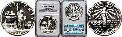 1986-S $1 Statue Of Liberty Commemorative Silver Dollar NGC PF 69 Ultra Cameo