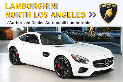 2016 Mercedes-Benz AMG GTS  PANO ROOF+NAVIGATION+TWIN TURBO+BLACK 5 SPOKE WHEELS+DESIGNIO WHITE