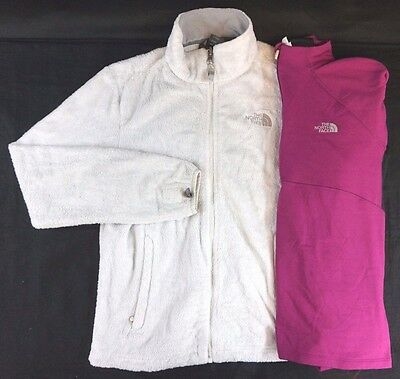 The North Face Lot of 2 Women s Purple White Fleece Jackets Medium M d669e930e