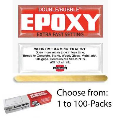 Hardman Double Bubble Red #04001 Extra Fast Set Epoxy-3-5 Min-100-Pack