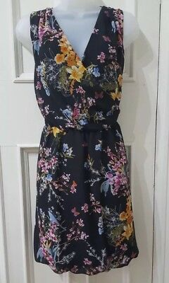 Beautiful Black Floral Print Summer Dress From Atmosphere UK Size 12