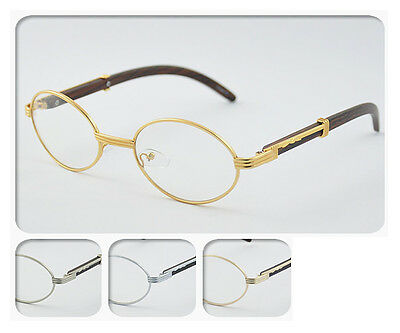 Clear Lens Eyeglasses Unisex Vintage Fashion Oval Frame Glasses UV 400 NEW