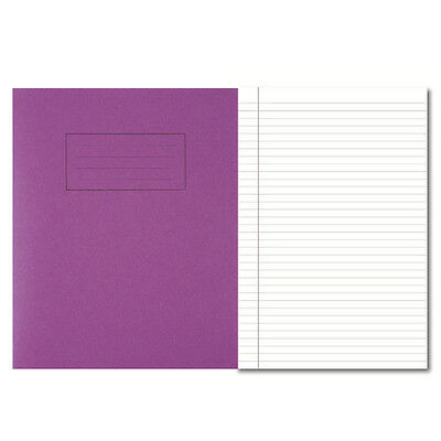 Pack of 4 Silvine A5 Exercise Books School Notebooks - Purple Cover 40 Leaves