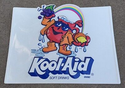 VTG Kool-Aid Man Koolaid Embossed Plastic Store Advertising Sign ORIGINAL 1980's