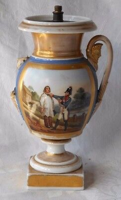 C19Th  Paris Vase With A Picture Of Soldier Arresting A Farmer
