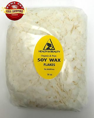 SOY WAX FLAKES ORGANIC VEGAN by H&B Oils Center AKOSOY FOR CANDLE 16 OZ, 1 LB