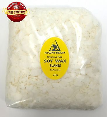 SOY WAX FLAKES ORGANIC VEGAN by H&B Oils Center AKOSOY FOR CANDLE PURE 24 OZ