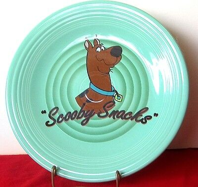 "Fiesta Scooby Doo Snacks 10.5"" DINNER PLATE Sea Mist  Warner Brothers"