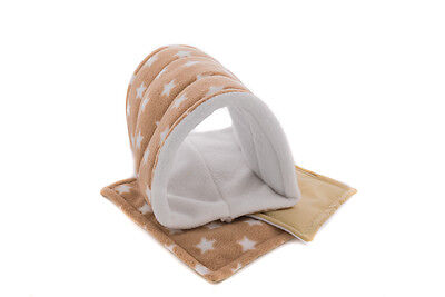 Guinea Pig and small animal fleece tunnel with two WATERPROOF pads