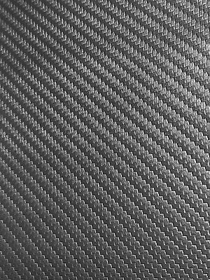 "Black Carbon Fiber Auto Pro Vinyl Fabric Automotive Seat Cover By The Yard 54""W"
